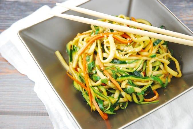 Zucchini Miso Ponzu Noodles