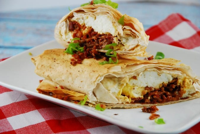 Breakfast Phyllo Wrap