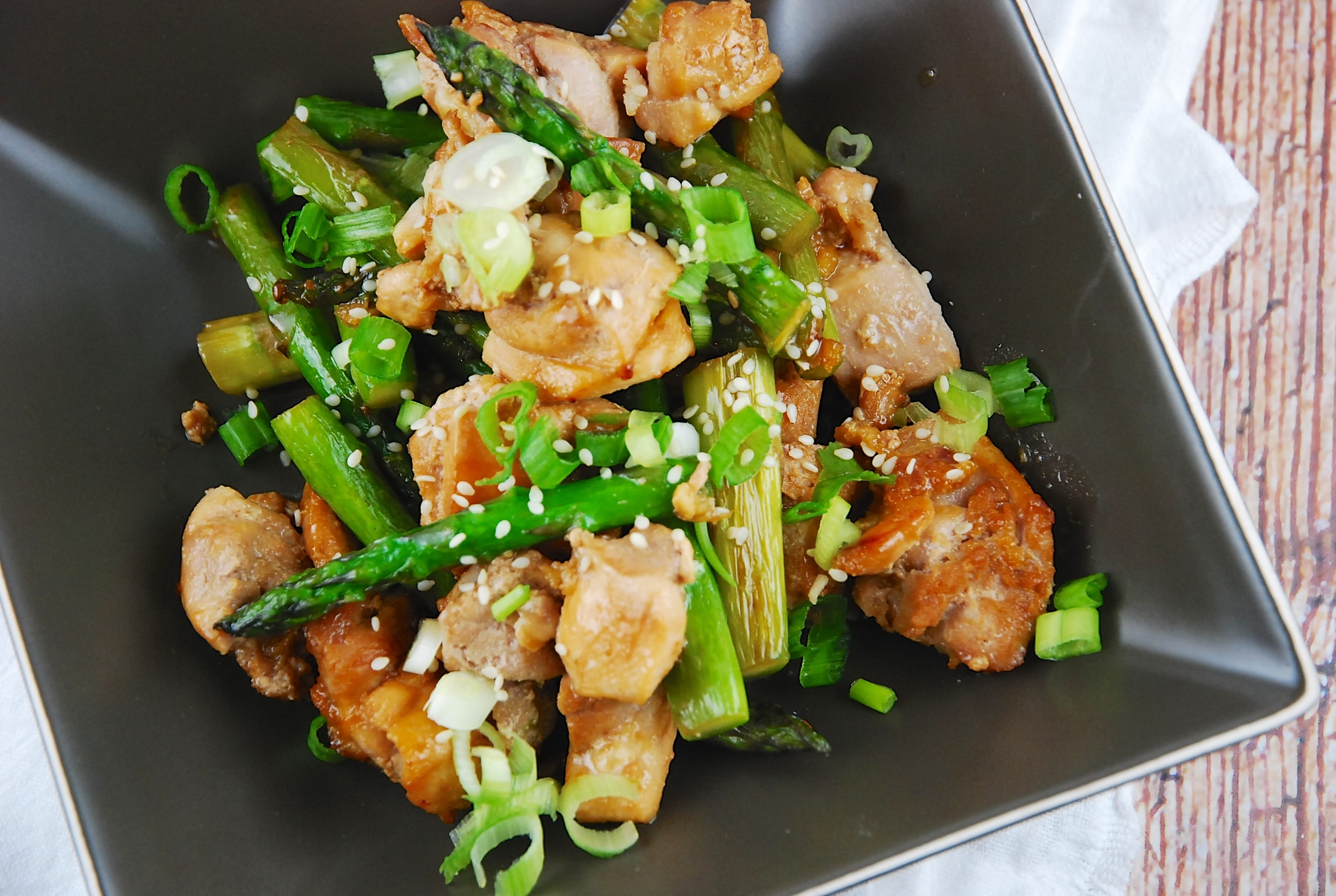 Chicken and Asparagus Stir Fry Recipe - 5 Points + - LaaLoosh