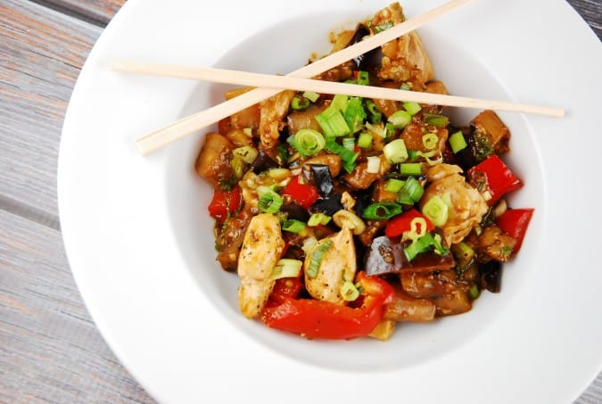 chicken eggplant stir fry