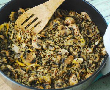 mushroom and quinoa saute
