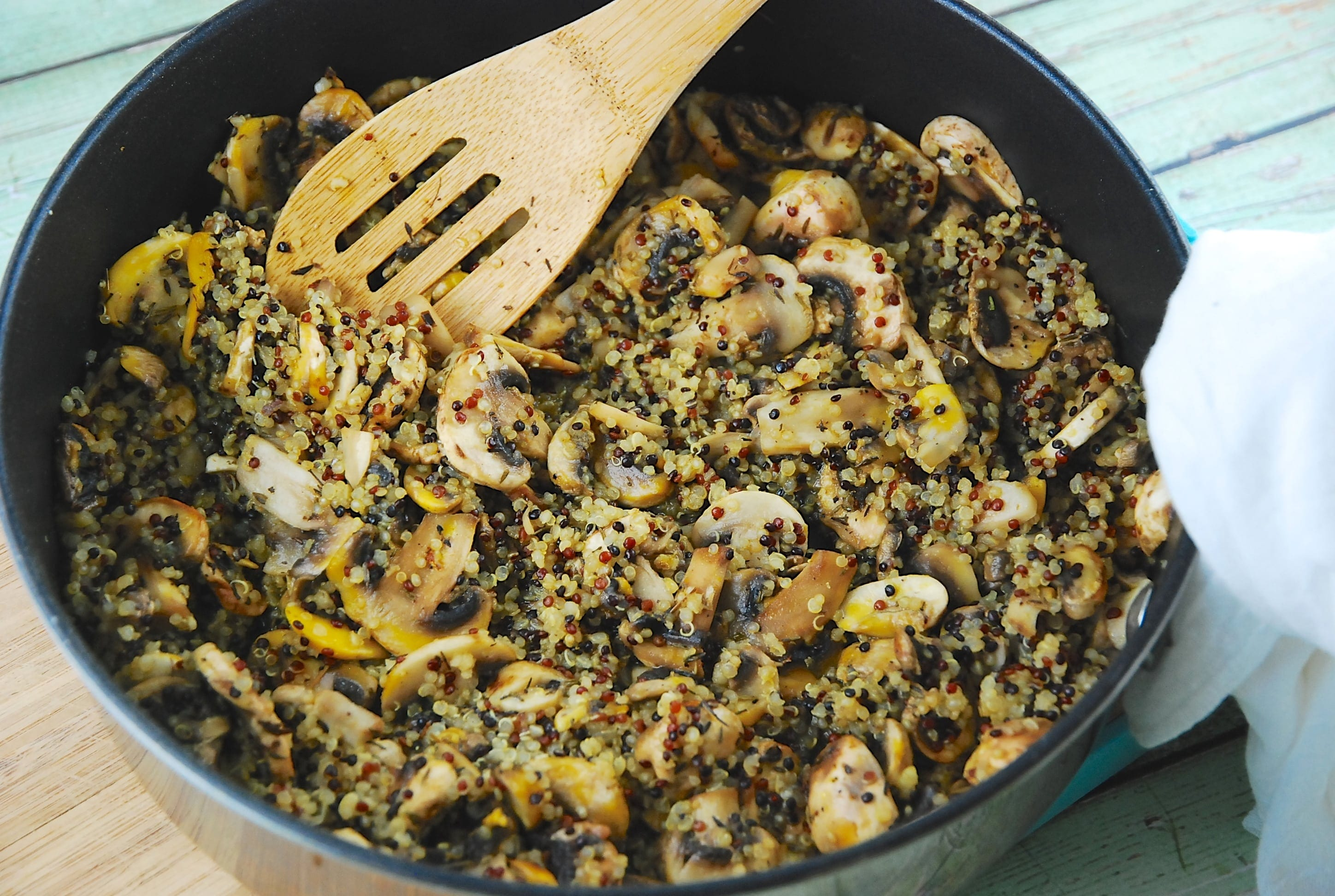 Thyme Mushroom-Quinoa Saute Recipes — Dishmaps