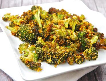 roasted parmesan garlic broccoli
