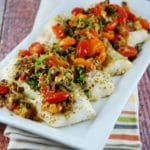 Baked Cod with Olive and Tomato Tapenade – 4 Points