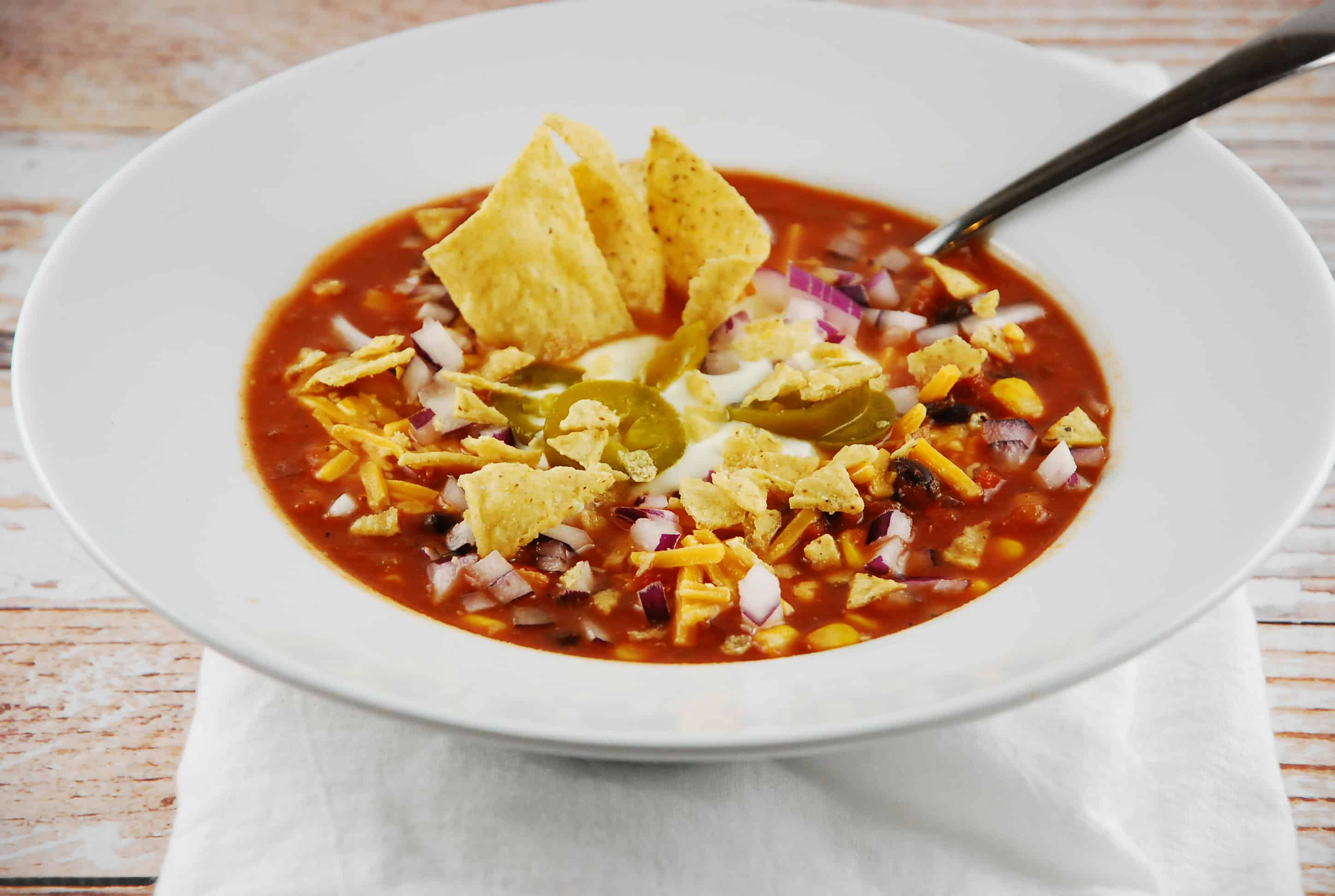 Crockpot Chicken Tortilla Soup Recipe - 6 Points + - LaaLoosh
