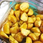 Greek Roasted Lemon Potatoes – 4 Points