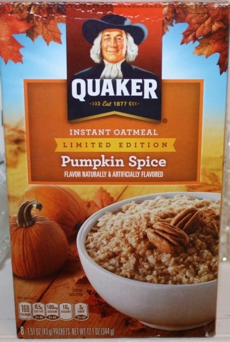 Quaker Pumpkin Spice Instant Oatmeal - 4 Points + - LaaLoosh