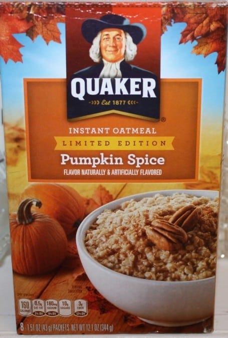 Quaker Instant Oatmeal in Pumpkin Spice