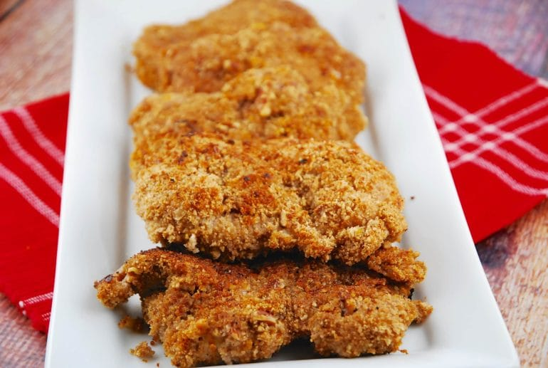 spicy pecan crusted chicken