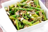 warm mushroom and asparagus salad