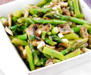 warm mushroom and asparagus salad