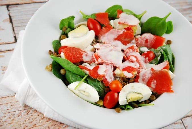 Smoked Salmon and Lentil Salad