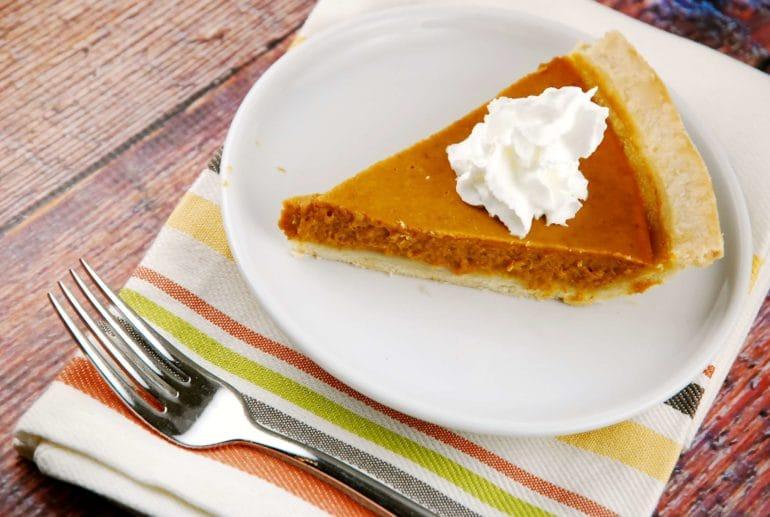 low calorie pumpkin pie