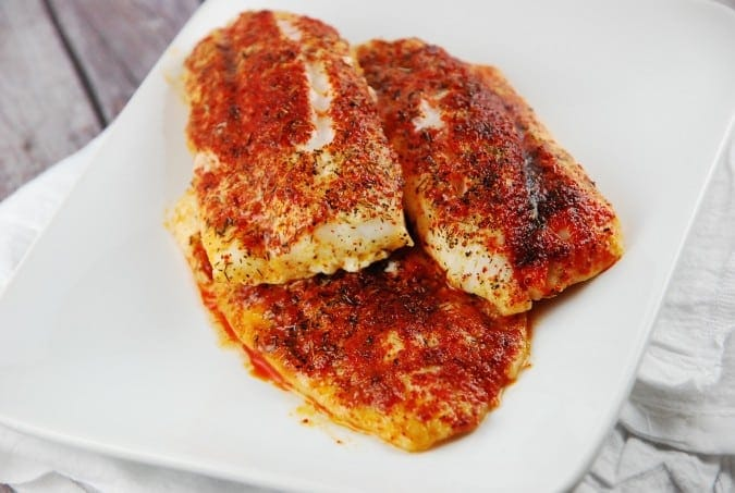 spiced oven roasted cod
