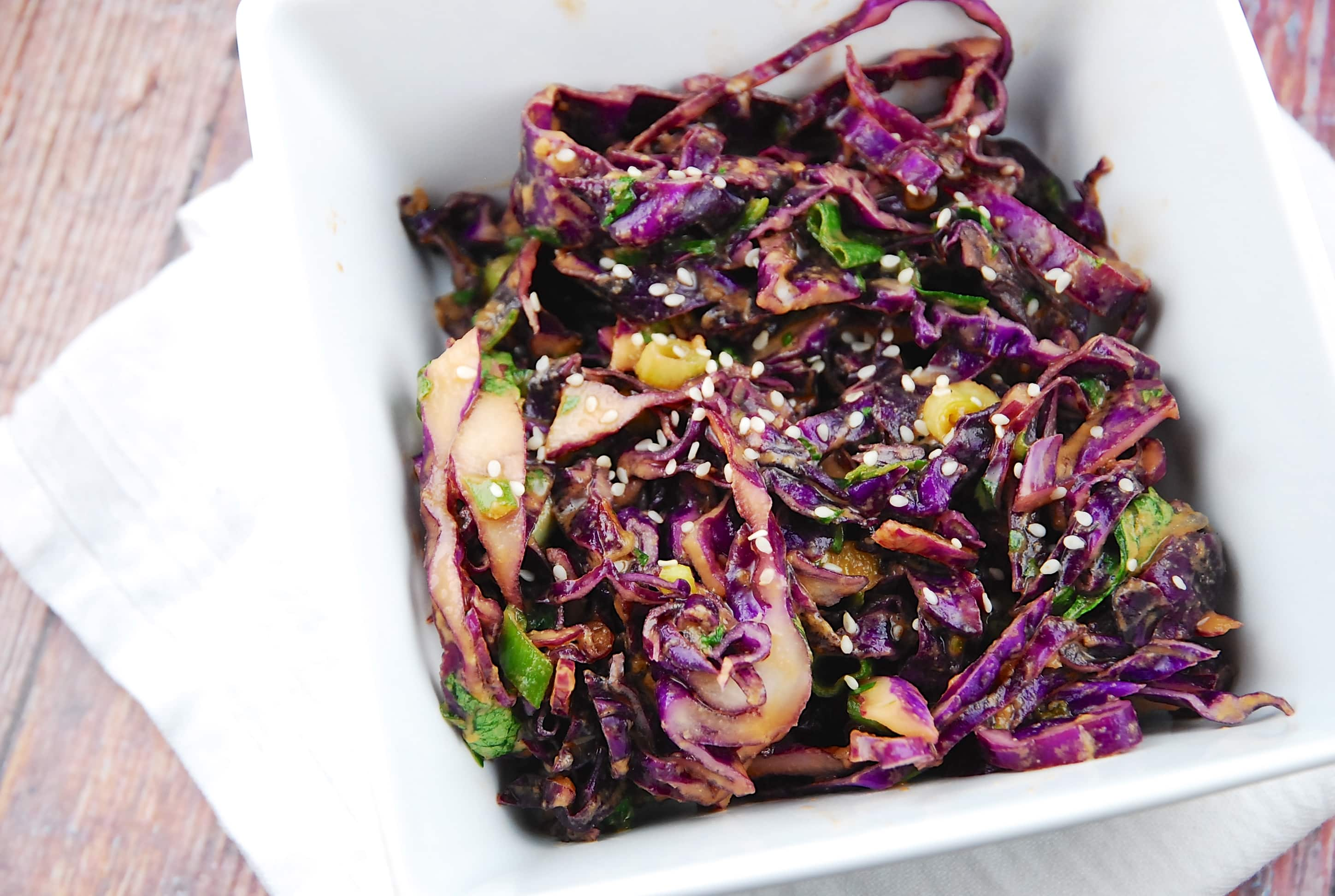 Asian Red Cabbage Salad Recipe 2 Points Laaloosh