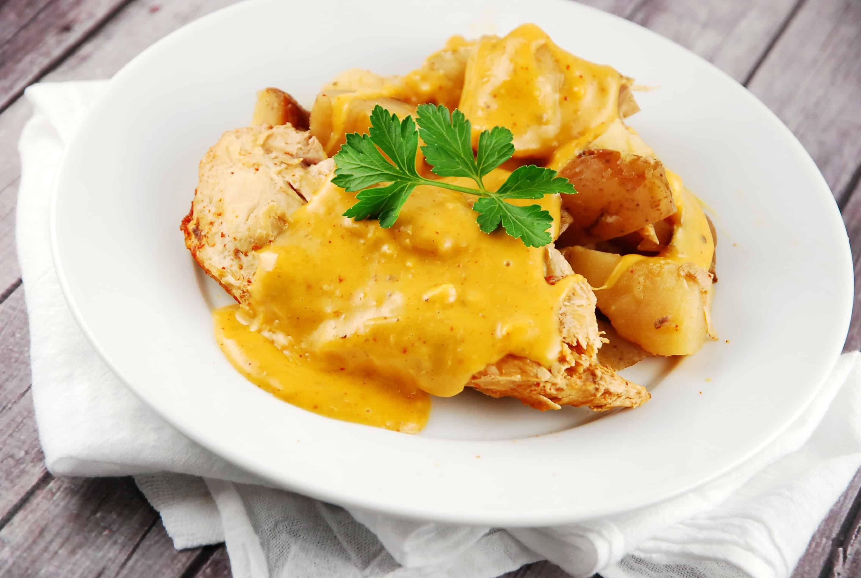 Crock Pot Cheesy Chicken And Potatoes Recipe 7 Points Laaloosh