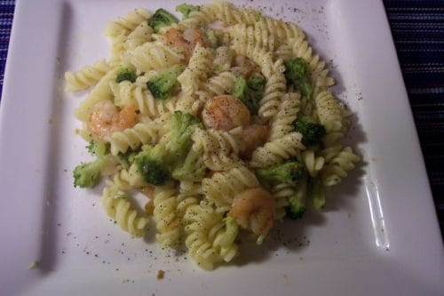 Broccoli and Shrimp Scampi