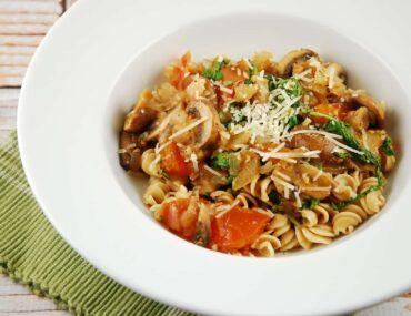 arugula and mushroom pasta