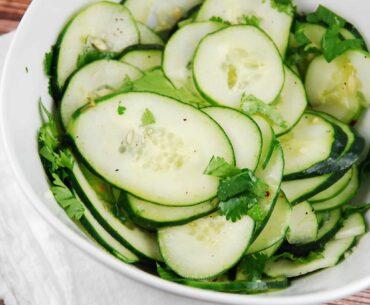cilantro lime cucumber salad