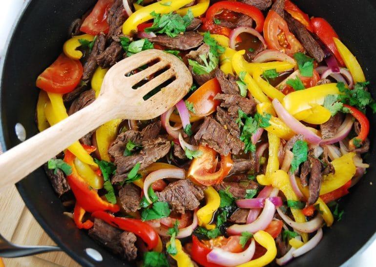 peruvian beef saltado
