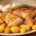 Roasted Chicken with Lemon, Potatoes & Rosemary – 5 Points