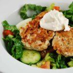 Ground Turkey Patties with Tahini Yogurt Sauce – 4 Points
