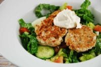 turkey patties with tahini yogurt sauce