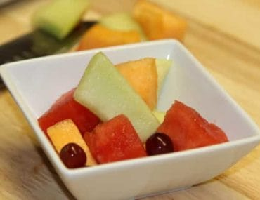 Fruit with Raspberry Vinaigrette
