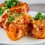 Quinoa and Chicken Stuffed Peppers Recipe – 7 Points