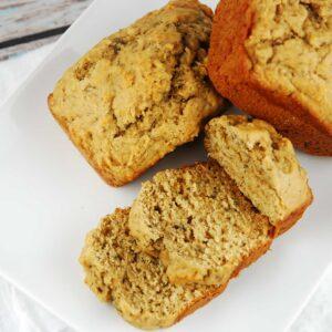 whole wheat banana nut mini loaves