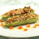 Stuffed Zucchini Boats – 3 Points