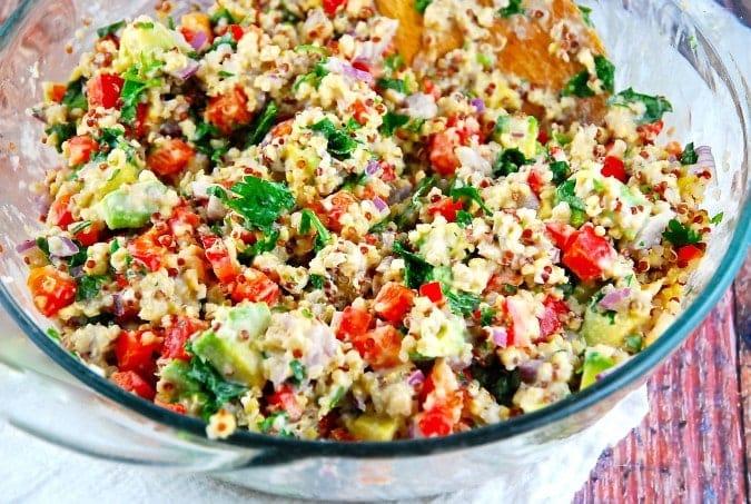 quinoa salad with tahini