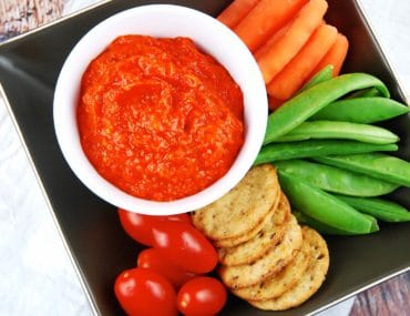 roasted red pepper and eggplant dip