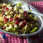 Roasted Brussels Sprouts with Pomegranate & Walnuts – 2 Points