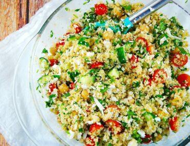 cous cous feta salad
