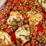 Roasted Chicken Breasts with Tomatoes and Garbanzo Beans – 7 Points