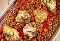 roasted chicken breasts with tomatoes and garbanzo beans