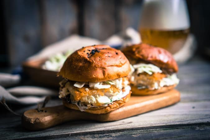 Asian Burgers with Spicy Coleslaw