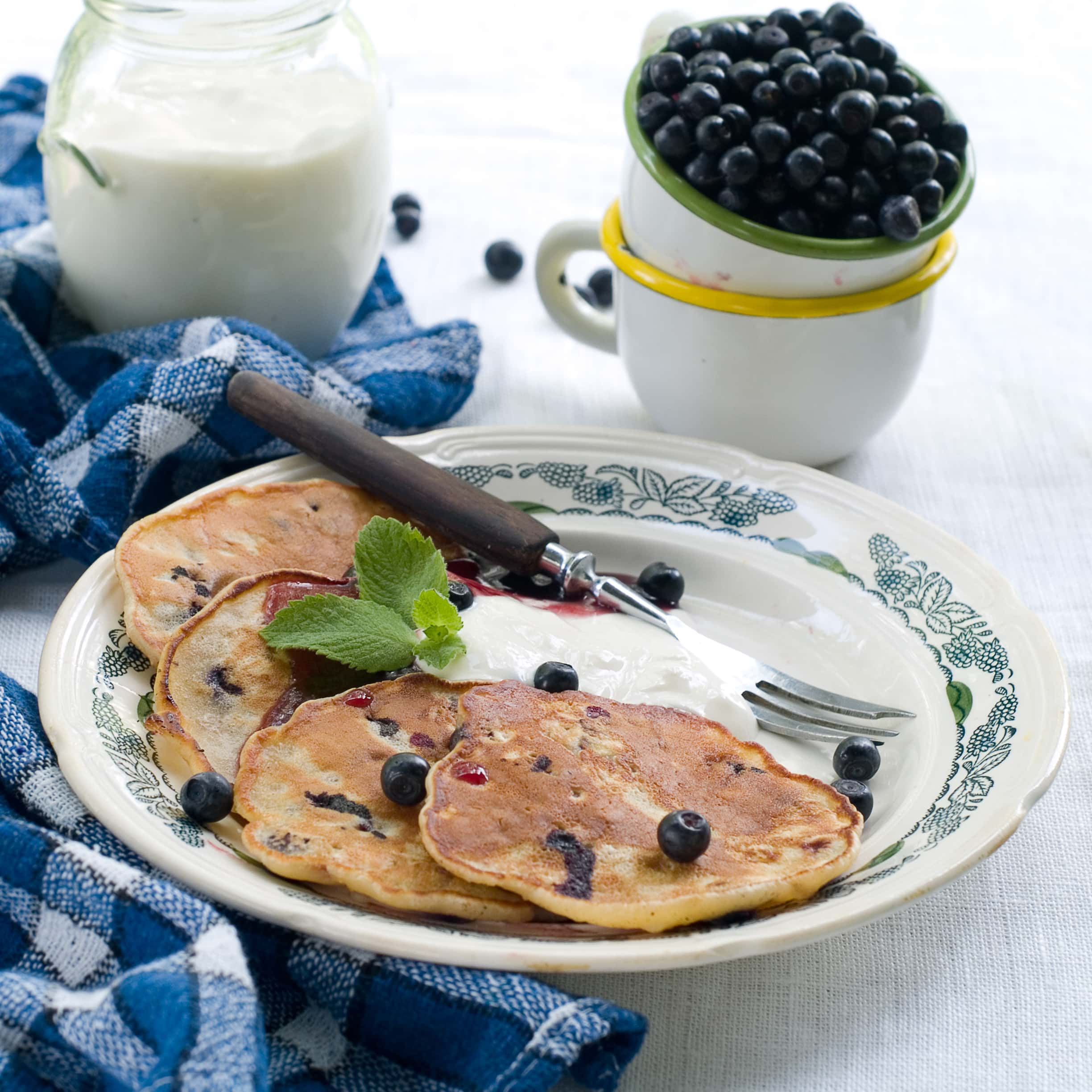 ... with some pancakes these blueberry pancakes hit the spot they re