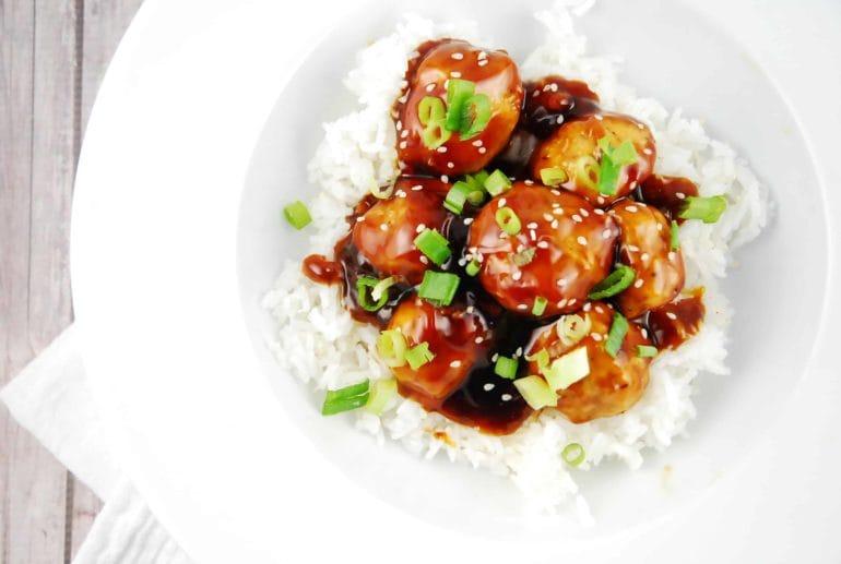 teriyaki meatball bowls
