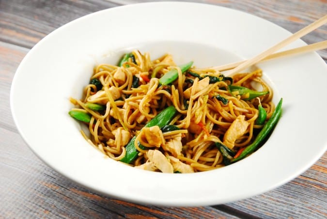 Easy chicken lo mein recipe 7 smart points laaloosh easy chicken lo mein forumfinder Images