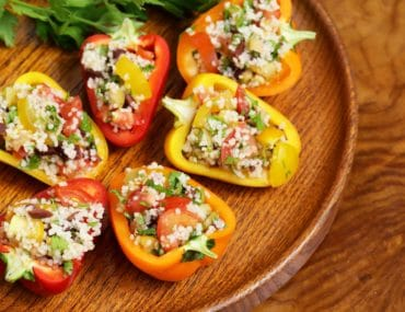 Quinoa Stuffed Mini Peppers