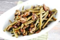 balsamic garlic roasted green beans