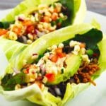 Cabbage Shell Chicken Tacos with Chipotle Cream – 5 Smart Points