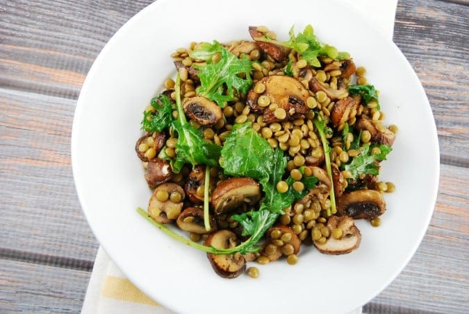 Warm Mushroom and Lentil Salad