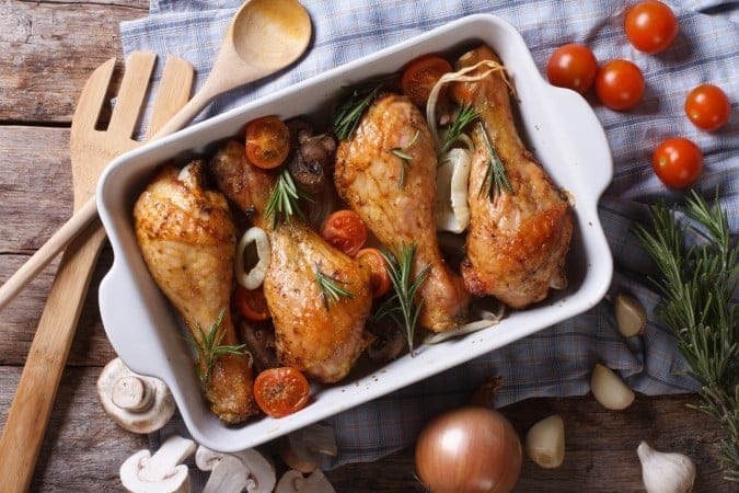 Lemon Rosemary Baked Chicken Legs