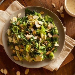 Kale Brussels Sprout Salad