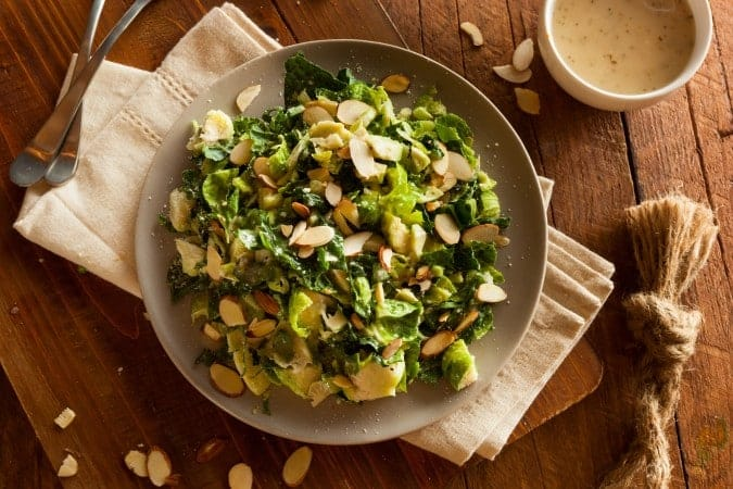 Kale And Brussel Sprouts with Creamy Poppy Seed Dressing