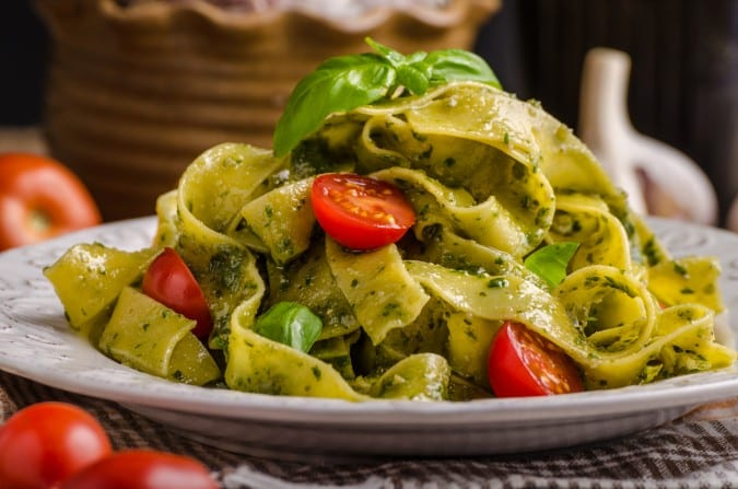 Pasta with Spinach Pesto