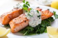 Salmon with Tarragon Cream